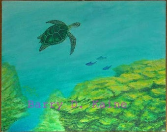 Seaturtle Underwater print