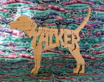 Treeing Walker Coonhound Handmade Wooden Puzzle