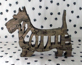 Scottish Terrier Handmade Wood Puzzle