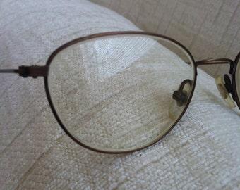 Thin Bronze Wire Vintage CALVIN KLEIN Eyeglass Frames