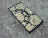 Nautical 1X2 inch Custom Drilled Ephemera Tile Ocean Pendant