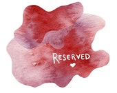 RESERVED for Tess