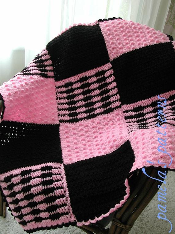 Crochet Bonnie Sax Tween Afghan PDF Pattern, Granny Square Afghan PDF Pattern, Granny Square Panel