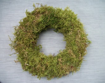 natural moss wreath