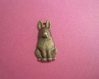 last Set of 12 antique bronze bunny rabbit charms