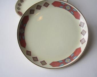 Vintage WS George Cavitt-Shaw Iroquois Bread & Butter Plates Set of Six