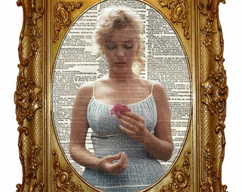 Marilyn Monroe Dictionary Art