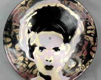 Bride of Frankenstein Vinyl Record Painting