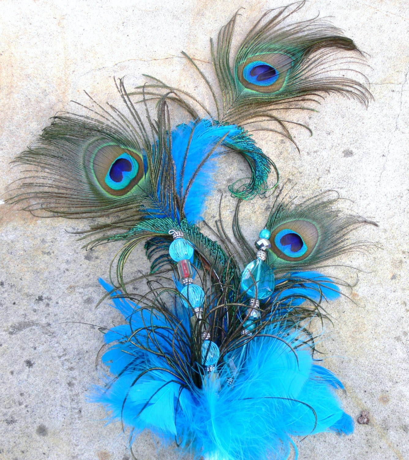 peacock feather cake topper