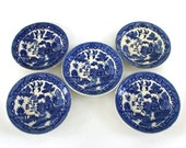 Blue and White Plates. Chinoiserie. Willow Transferware. Instant Collection. Indigo. Wall Hanging. Kitchen Dining Decorating. Traditional.