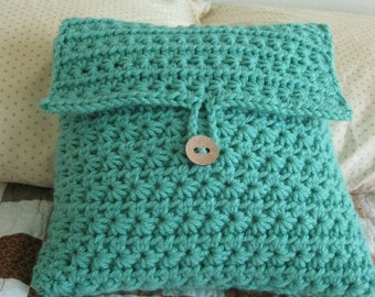 Tranquil Star Pillow Cover  -  Crochet  -  12 inches square