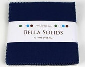 Bella Solids Charm Pack Blue 9900PP 48 for Moda --  5 inch 42 Quilt Fabric Squares