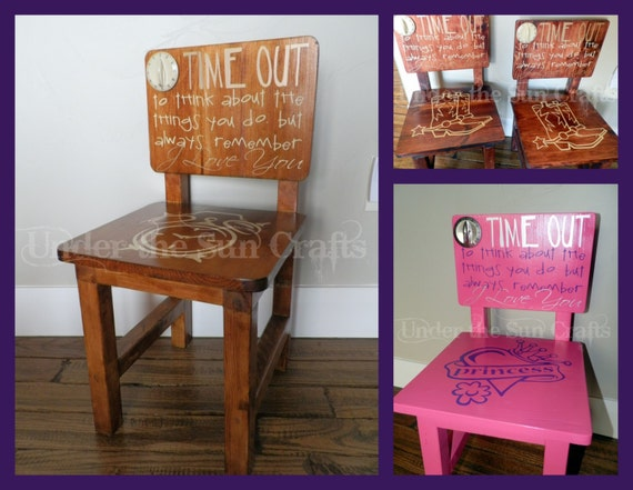 Items Similar To Solid Wood Customizable Time Out Chair On Etsy