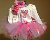 Abby Cadabby Tutu Onesie Outfit -  Infant with Name