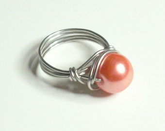 Melon Silver Handmade Wire Wrapped Ring Sizes 1-14