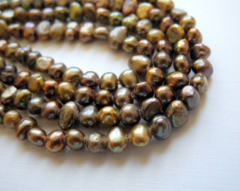 Freshwater Pearls Brown Earth Tones 5mm