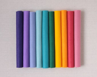 Wool Felt // Jelly Bean // Easter, Bright, Wool Felt Sheets, Rainbow, Spring, Die Cut Flowers, Garland Felt, Colorful, Felt Assortment