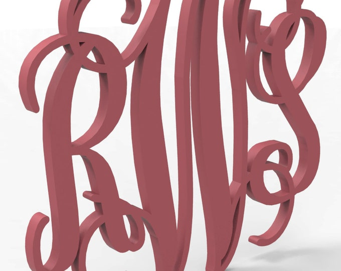 "3 Letter Monogram 18"" tall Custom Made and painted in your choice of color."