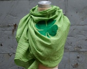 Reserved for Judy ,Lucky Shamrock Women's Scarf