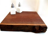 handmade serving board.cutting board.tray.centerpiece.cheese modern eco friendly appetizer natural edge rustic black walnut.tessiemay