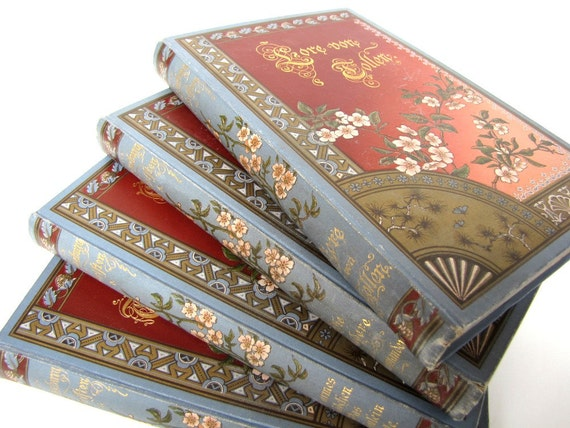Antique Books Rare German Set