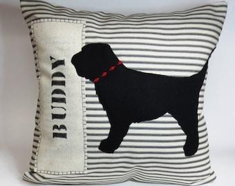Labradoodle Pillow - Goldendoodle Pillow - Felt Pillow - Decorative cushion cover
