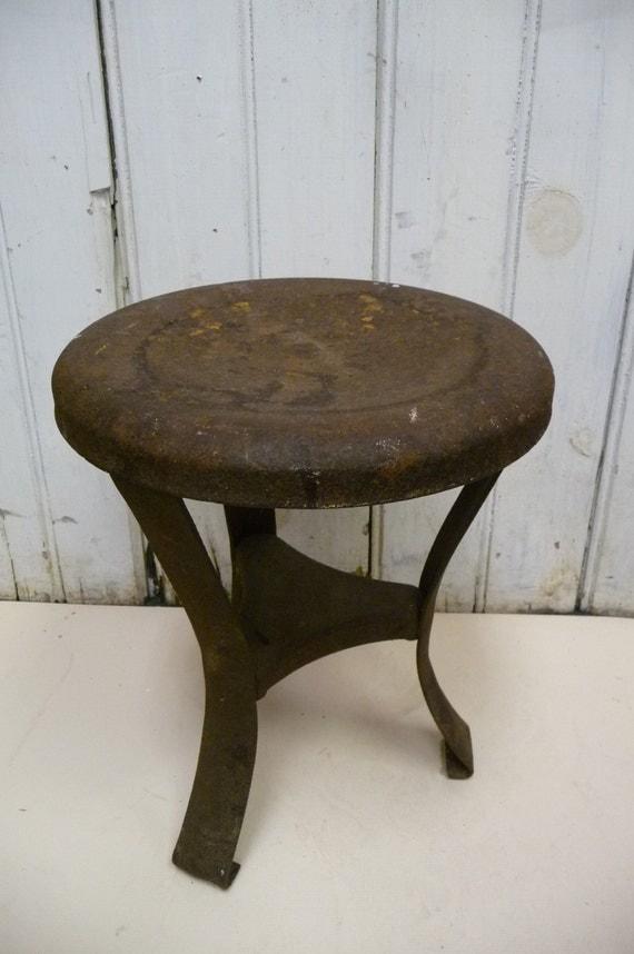 Antique Milking stool Rustic metal