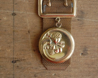 antique repousse clover locket ∙ 1910s locket ∙ best offer