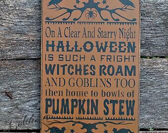 Primitive, Folk Art ,Halloween, Pumpkin Stew