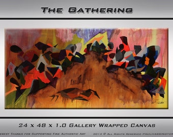 The Gathering  original acrylic abstract painting