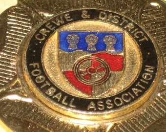 Vintage English Football Medal Crewe and District Football Association