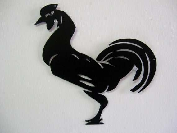 Rooster Metal Wall Decoration Sign