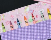 STOCKING STUFFER - Fairytale Princess Crayon Roll - Fairytale Princess Birthday Party Favor - Easter Gift - Crayon Holder