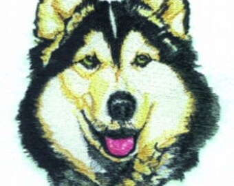 Siberian Husky Dog Embroidered Terry Bathroom  Hand Towel -- You Pick the Color---Free Shipping