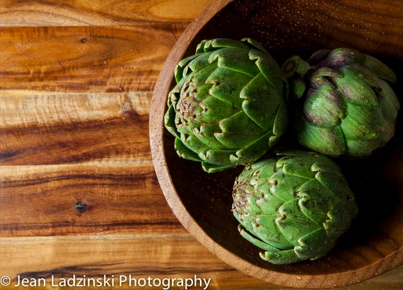 Items similar to rustic vegetables artichoke 11x14 for Artichoke decoration