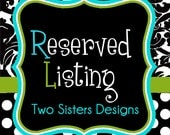Reserved listing for Nicole-19 bridal party cups