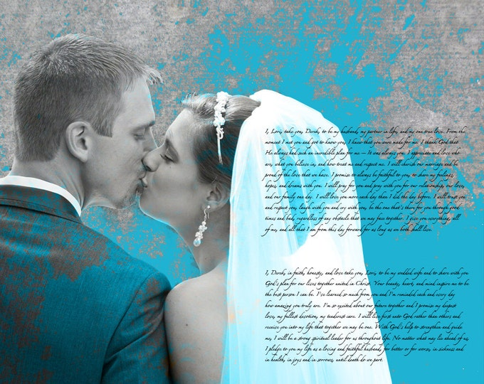 2nd Anniversary Gift Cotton Anniversary 1st Anniversary Gift Wedding Vow Art First Dance Song First Dance Lyrics Song Lyric Art Canvas 16x20