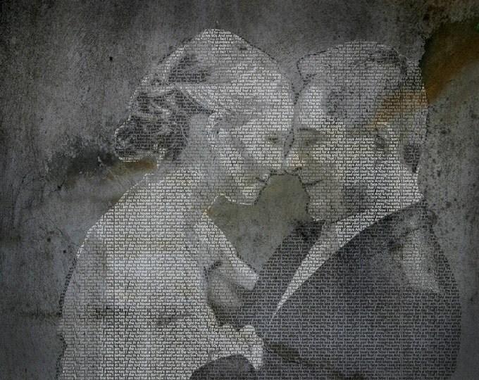 Wedding Vows Art First Dance Songs First Dance Lyrics Song Lyric Art Text Art 2nd Anniversary Cotton Anniversary Word Art Photo Gift 20x24
