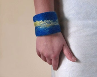 felted cuff - bracelet -coming back to life-