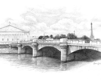 Paris Bridge - Print