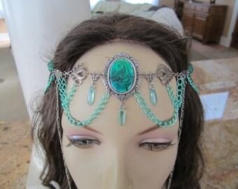 Viridian Circlet of the Forest Elf Elven Celtic Druid LARP Bridal Renaissance