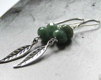 Mother's Day Earrings Jewelry, Dangle Earrings, Gemstone Earrings, Accessories, Sterling Silver, Agate Earrings, Earthy Rustic Drop Earrings