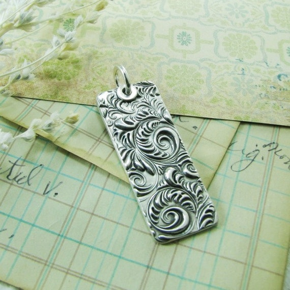 Personalized Silver Pendant, Fine and Sterling Silver, Handmade with Recycled Silver by SilverWishes