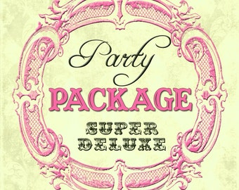 DIY Printable Party Package Made To Match Any Invitation In The Shop -- SUPER DELUXE Package