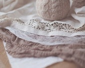 Newborn Photography Prop / Layered Newborn Set with antique doily and sleepy hat  - Ready To Ship