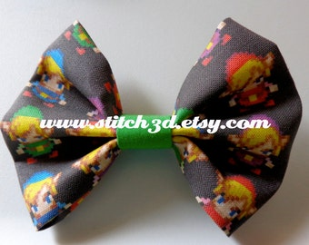 Four Swords TOON LINK Legend of Zelda hair bow or bow tie