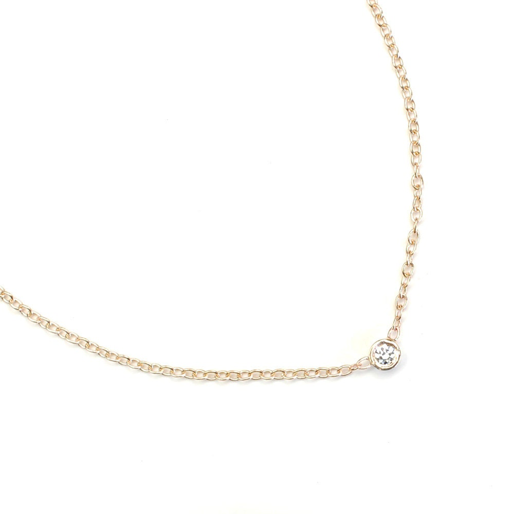 Simple Diamond Necklace Images