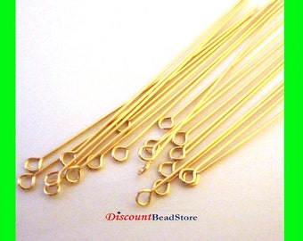 30x 24 gauge 14k gold filled headpin open eye head pin headpin 2 inches GF34