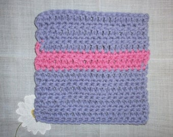 Crochet Sink Cloth - Purple and Pink