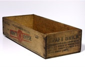 Vintage Kraft Cheese Box - RESERVED SALE - Extra Wide